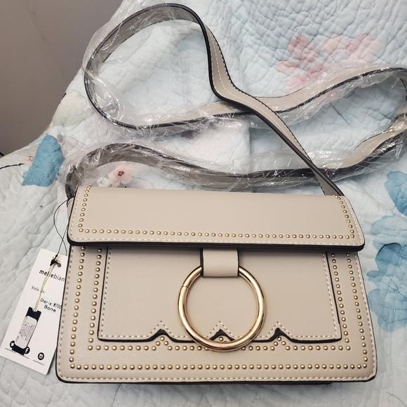 Vegan Leather Melie Bianco Crossbody Bag